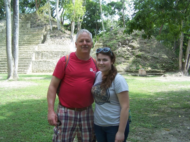 Your authors pictured at Cahal Pech.