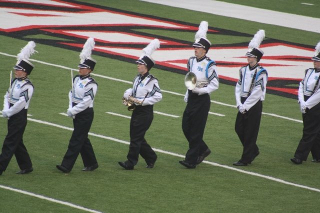 Entering the field for the last competition.
