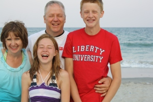 Fun at the beach with my family
