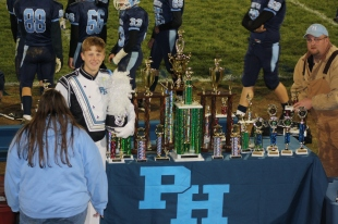 The trophies from 2012 competition season.