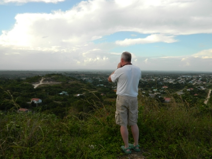Yours truly overlooking Belmopan. Image Credit to Chad Johnson.