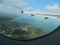 This is outbound from Belize Cityshowing the coastal area. Photo Credit to Chad Johnson.