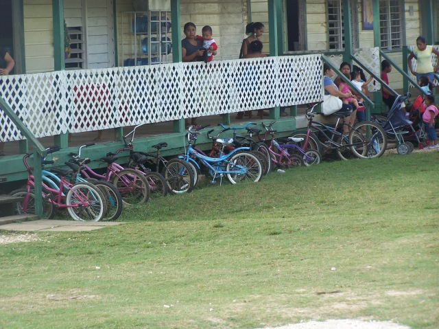 Here you see more of the bike culture with the bikes at  the school.