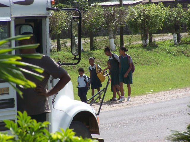 Int the morning and afternoon we saw the school kids making their way to and from school. Many of them made this journey on foot as there is not bus service to all the many schools around the area.