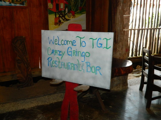 When I saw this sign at the restaurant where our team shared our last meal in Belize I had to chuckle and wonder if they named it in our honor.