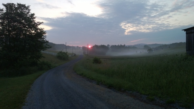 On my walking path, the scene of several beautiful sunrises this summer.