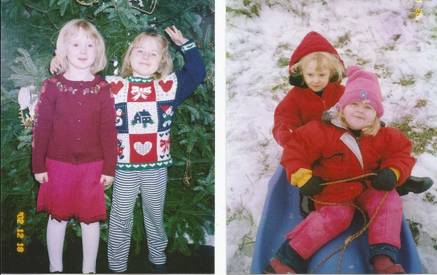 My daughter Meredith is on the right in both photos.