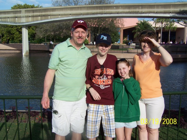 Fun times at Epcot in Orlando Florida in March of 2008