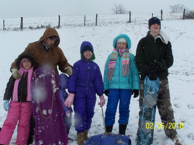 Snow on the ground means fun for the kids with no care about the school schedule