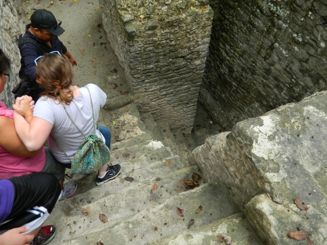 At the Mayan archaeological site called Cahal Pech, near San Ignacio, Belize.