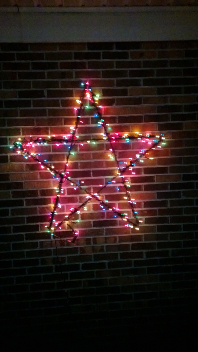 A star my dad used to hang at home that we added to our decoration display this year.