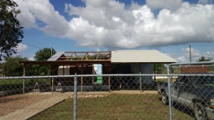 In the midst of replacing the roof of the Heart House tutor center in Maya Mopan, Belize.