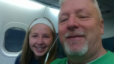 On the plane heading for Belize.
