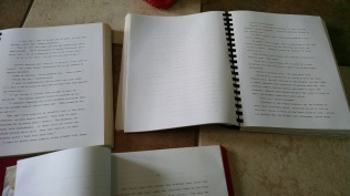 When I began to enter writing contests I had my novels printed and bound so they presented a more professional look..